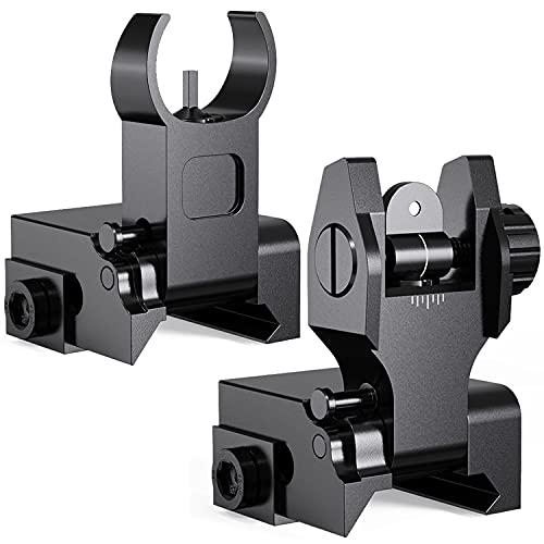 Marmot Flip Up Iron Sights A2 Front Sight & Rear Sight for Gun Rifle Handgun