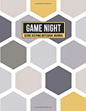Game Night Score Keeping Notebook Journal: Simple Gaming Log For Many Family Games   Blank Score Sheets Allow You To Determine Players, Rounds, Layout and Tracking (Gold Gray Honeycomb)