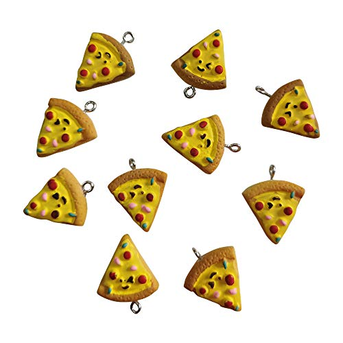 AMOBESTER Pizza Charms Delicious Food Pisa Pendant Charms DIY Jewery Making Earring Bracelet Necklace for Women Girls