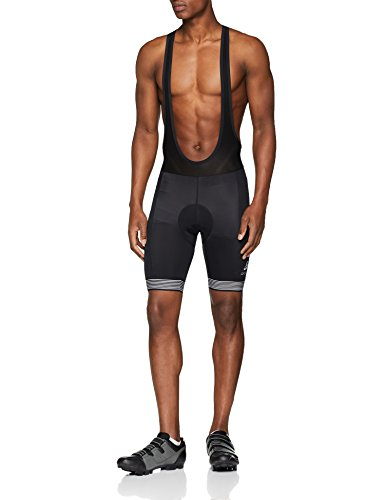 Odlo Fujin - Pantaloncini da Ciclismo con Bretelle da Uomo, Uomo, 422052, Nero, S