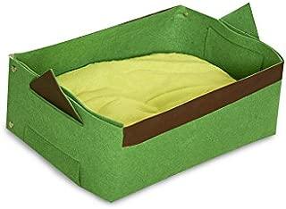 Kats'N Us Felt Fabric Cat Bed Pet Travel Bed - Small Green