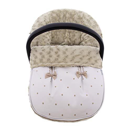 Funda + Saco Universal para silla de coche GRUPO 0 Rosy Fuentes en color blanco camel