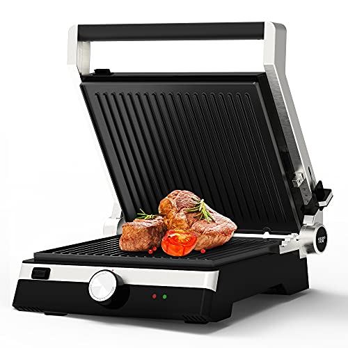 OMAIGA Electric Indoor Searing Grill, 2000W Contact Grill, Indoor Grill with Temperature Control,...
