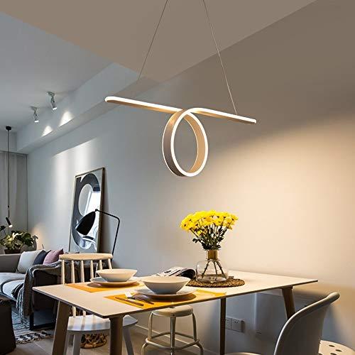 SYyshyin 70 x 35 cm blanco acrílico anillo araña araña Nordic Modern Minimalist Fashion Personality LED lámpara creativa Artes Restaurante Comedor en casa (color: luz cálida)