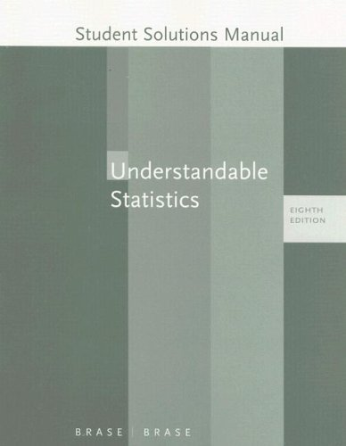 Student Solutions Manual to Accompany Understandable Statistics