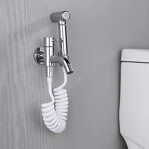 ZKAIAI termostática cromada Pañal del paño del bebé accesorio del rociador de ducha - Todas cobre inodoro de limpieza del arma de aerosol presurizado baño grifo montado en la pared de la fregona pisci