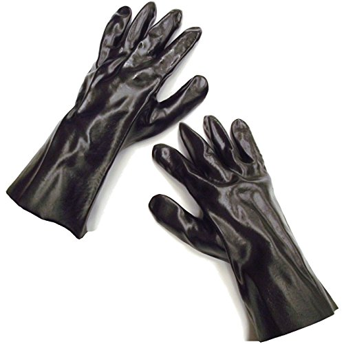 Rite Farm Products 12' Gauntlet Black PVC Poultry Processing TRAPLINE Gloves Trap Trapper Trapping Butcher Skinning