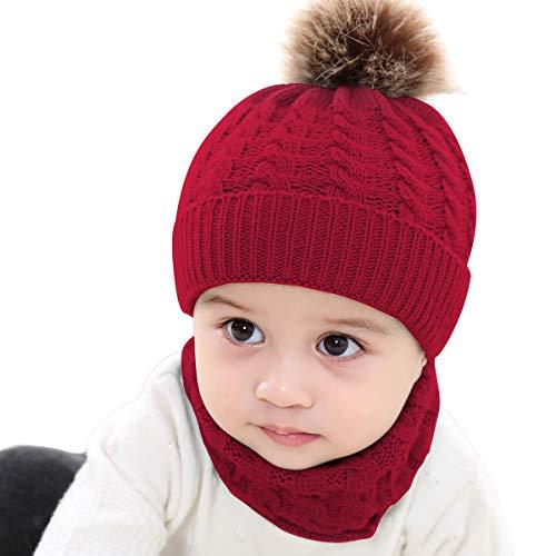 Yinuoday Nuevo Niño Niños Niña Niño Bebé Infantil Invierno Cálido Crochet Gorro de Punto Gorro Gorro