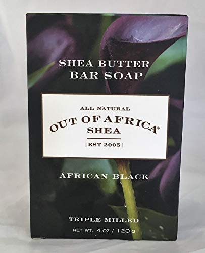 Out Of Africa African Black Shea Butter Bar Soap, 4 Ounce Boxes