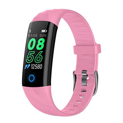 S5 - Pulsera inteligente deportiva IP68, resistente al agua, pantalla a color, monitor de actividad, reloj inteligente para niños Conjunto de bandas de fitness para mujer.