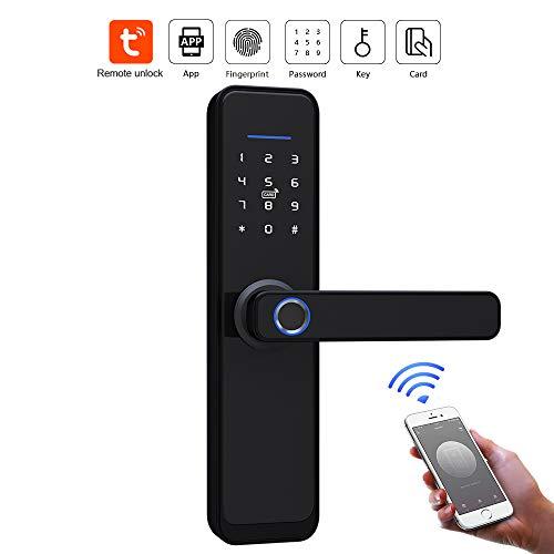 Feastoria Smart Lock Front Door, Keyless Entry Door Lock, Keypad Door Lock, Fingerprint Door Lock, Biometric Door Lock (Double Bolt)