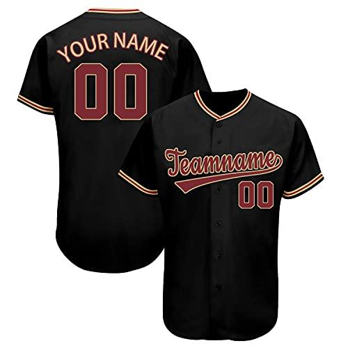 Custom Baseball Jerseys Personalized DIY Printed Baseball Shirts with Team Name Number for Men/Women/Boy