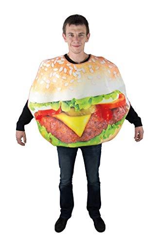 P'tit Clown 88111 Déguisement Adulte Hamburger - Taille Unique - Multicolore
