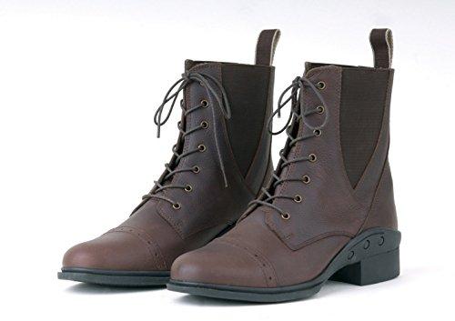 Rhinegold Indiana Damen Stiefel zum Schnüren, Paddock Boots, UK 3 (EU36), Braun