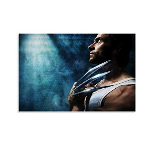 DRAGON VINES Movie X-Men Wolverine Logan - Garra de acero para colgar pinturas modernas minimalistas para dormitorio, sala de estar, 20 x 30 cm