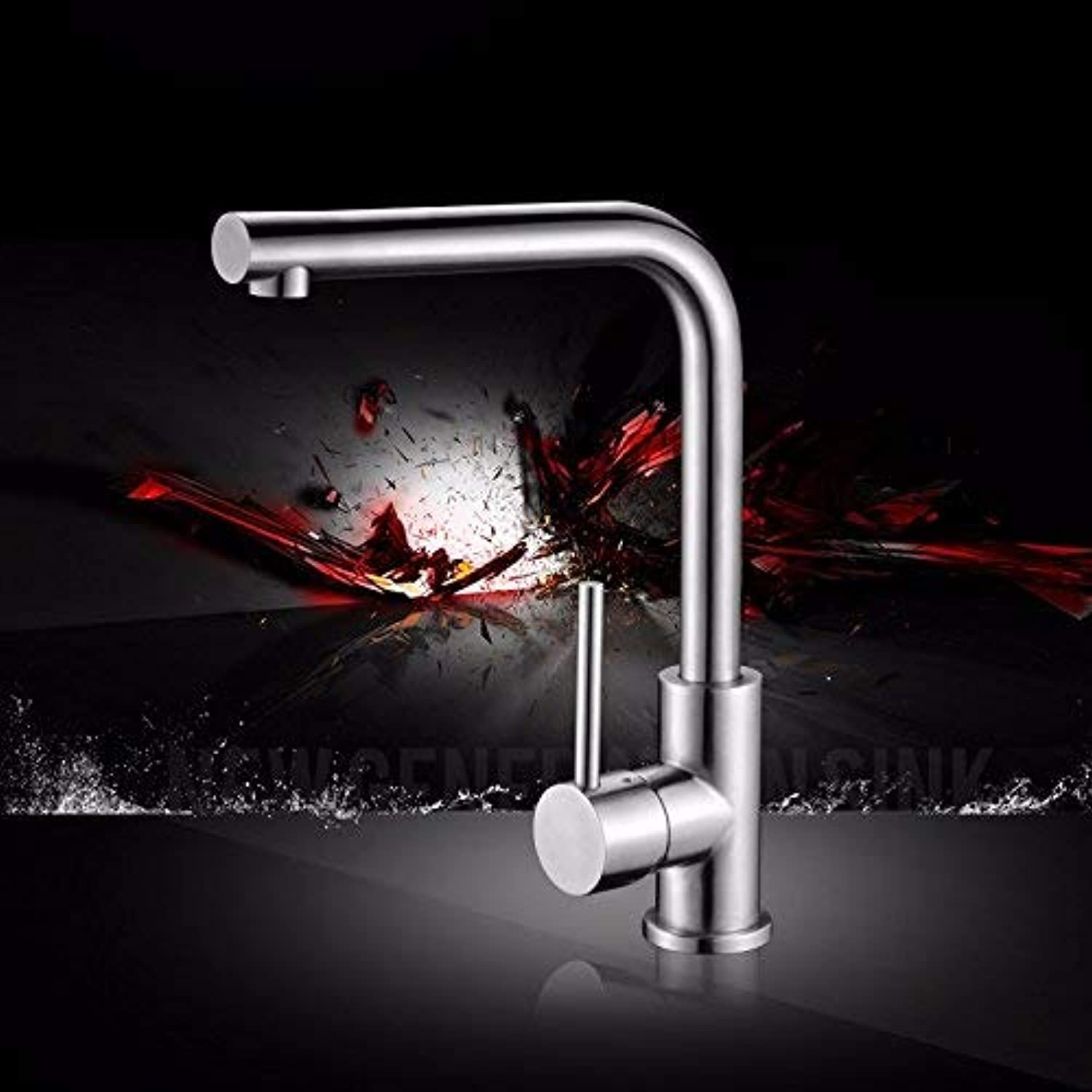 FAUCETS HOME Stainless Steel Kitchen Faucet, Sink Kitchen Faucet, Single Hole Single Handle redatable Faucet