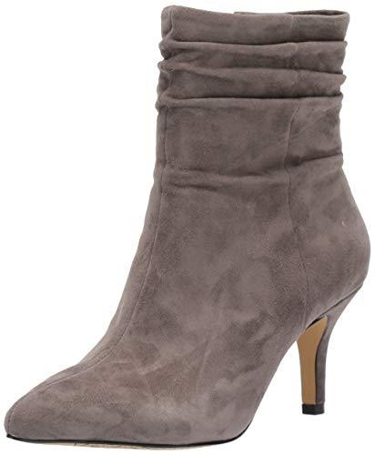Bella Vita Women's Danielle Dress Bootie Ankle Boot, Grey Suede Leather, 6.5 W US