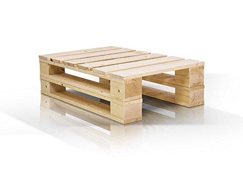 moebel-eins PALETTI Duo Couchtisch Massivholztisch Palettentisch Beistelltisch Tisch aus Paletten in 60x90 cm Natur, Natur
