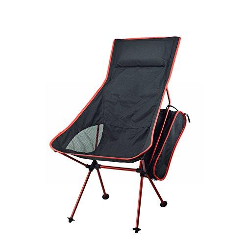 lokep nouvelle version portable ultra léger robuste 7075 en Alliage d'Aluminium aéronautique extérieur siège chaise de camping pliable Tabouret Chaise de pêche pliante avec 330lbs Roulement d'oreiller + Sac de transport pour randonnée Plage M dark-blue