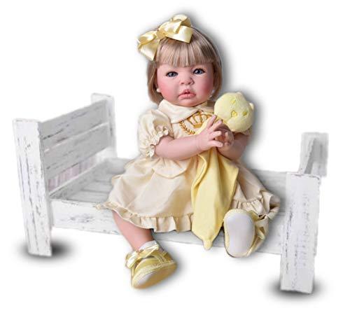 Fada Madrinha Reborn Menina Loira Amarela Boneca Bebe Reborn Realista Meu Xamego