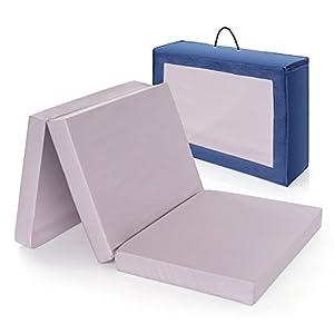 Alvi colchón cuna de viaje plegable 120×60 cm / Altura 6 cm – funda de algodón lavable, transpirable, sin sustancias…