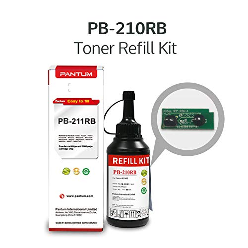 Pantum Toner Refill Kit for PB-210R Black Toner Cartridge Compatible with P2502W, M6552NW, M6602NW Printer