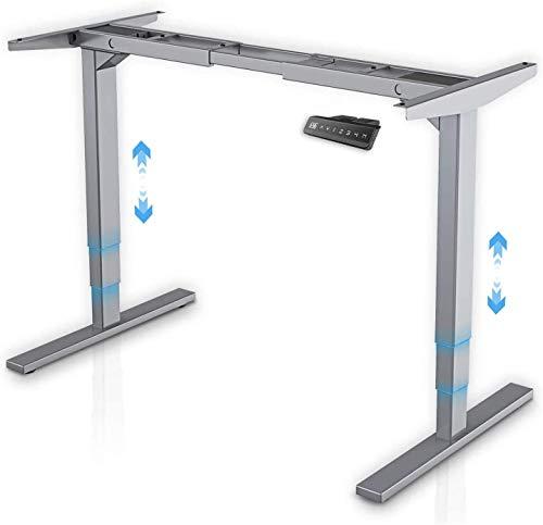 Höhenverstellbarer Schreibtisch Elektrisch 3-Bühne Hebe Passt mit Memory-Funktion Sowie Einstellbaren Kollisionsschutz, 2 Motoren Elektrisch Höhenverstellbares Tischgestell