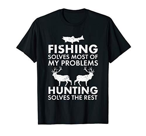 Divertido Pesca Y Caza Regalo Navidad Humor Hunter Cool T-Shirt