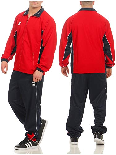 Patrick heren trainingspak 2-delig joggingpak rood blauw wit - rood navy wit sportpak trainingspak