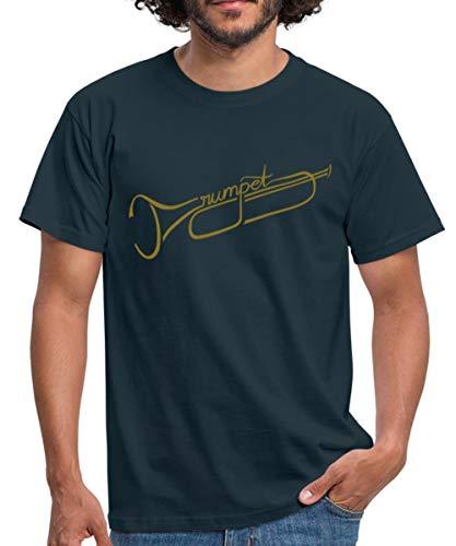 The Trumpet Trompete Männer T-Shirt, XL, Navy