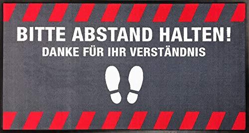 Emco Tapis de signalisation « Distance Maintenir » 85 x 150 cm