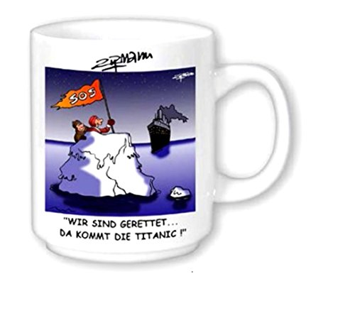 magicaldeco Maritim Porzellan- Tasse, Kaffeepott, Becher- Rettung SOS Titanic -deutsches Produktdesign