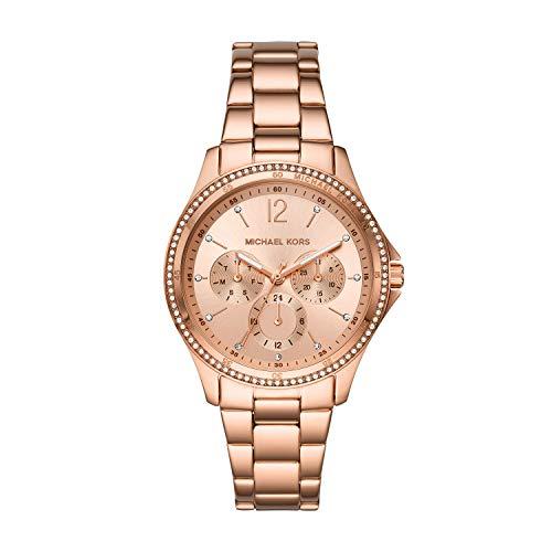 Michael Kors Women's Riley Multifunction Rose Gold-Tone Stainless Steel Watch MK6656