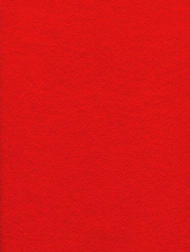 1-Piece Kunin Eco-fi Prestofelt Peel-n-Stick, 9-Inch by 12-Inch, Red