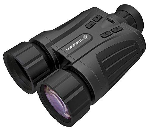 Bresser Digitales Nachtsichtgerät 5x42 mm mit Aufnahmefunktion, integriertem Infrarotsensor mit 200 m Reichweite und Speichermöglichkeit durch optionale MicroSD-Karte, schwarz