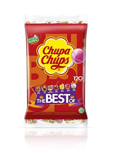 Chupa Chups Original Caramelo con Palo, de Sabores Variados, 120 x 12g