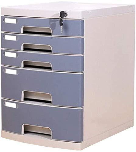 Organizador Para el Escritorio Presentación Caja de almacenamiento de escritorio plásticos de la oficina del gabinete de múltiples capas de escritorio con cajón de la cerradura del gabinete del archiv