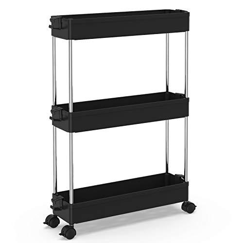 SPACEKEEPER Slim Storage Cart 3 Tier Mobile...