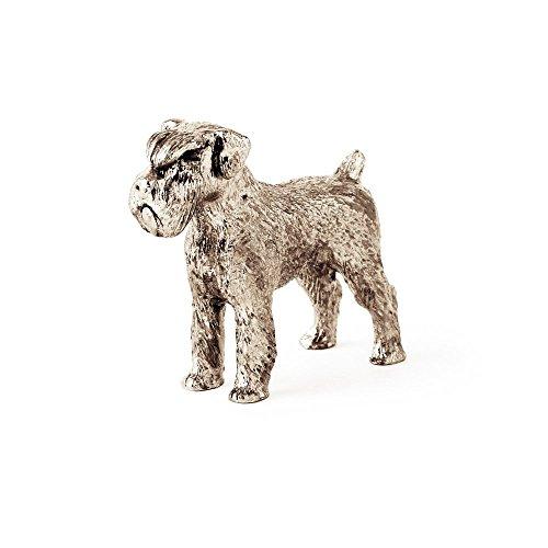 DOG ARTS JP Schnauzer Made in UK, Collezione Statuetta Artistici Stile Cani