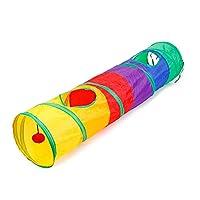 RUIMA 猫折り畳み式のトンネルは、バレルカラフルな猫テントドリルバレルペットのおもちゃをドリル 猫のおもちゃ