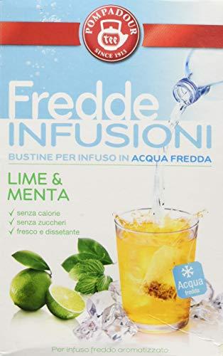 Pompadour Fredde Infusioni Lime & Menta - 18 filtri [3 astucci]