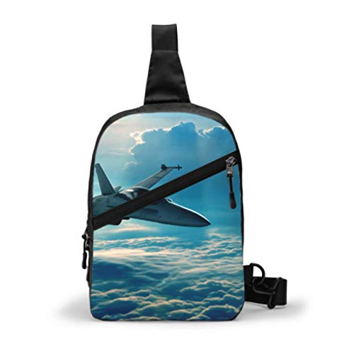 Boys Chest Bag Aircraft Fighter Jets Sling Duffel Bag Sling Bags For Women Waterproof Gym Sling Bag For Men With Adjustable Strap For Men Or Women Cycling Walking Hiking