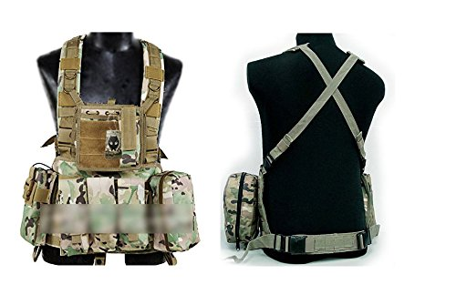 ATAIRSOFT Tactical Airsoft Paintball MOLLE RRV Assault Military Hunting Vest with Pouches Multicam(MC)