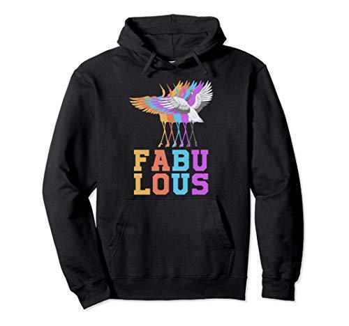 Grus Grus Fabuloso Colorido Lindo Pájaro Origami Animal Sudadera con Capucha