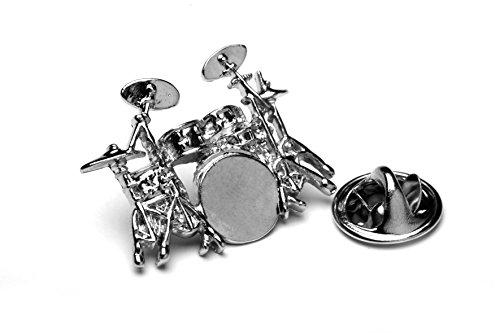 Schlagzeug Abzeichen mit Geschenk Tasche Unique Silber Metall Design