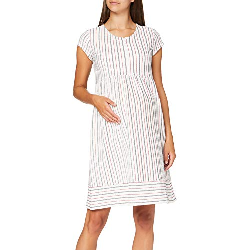 ESPRIT Maternity Damen Dress Nursing Sl Jacquard Kleid, Mehrfarbig (Off White 110), 36 (Herstellergröße: S)