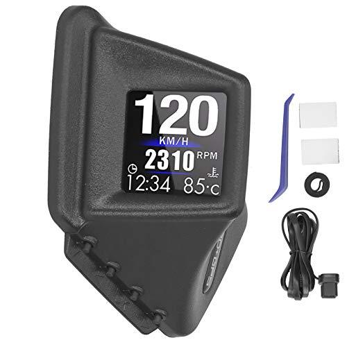 Goshyda Display Heads Up per Auto, OBD2 + GPS Dual Mode Car Smart Gauge Multi-Functional Digital Meter, Tachimetro HUD OBD2 / GPS per Auto, Avviso di velocità eccessiva, Contachilometri