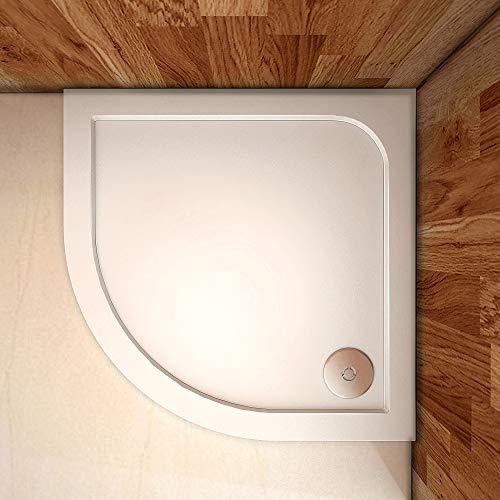 Aica Sanitär Duschtasse Duschwanne 80x80cm Viertelkreis Weiß mehrere Außenmaßen