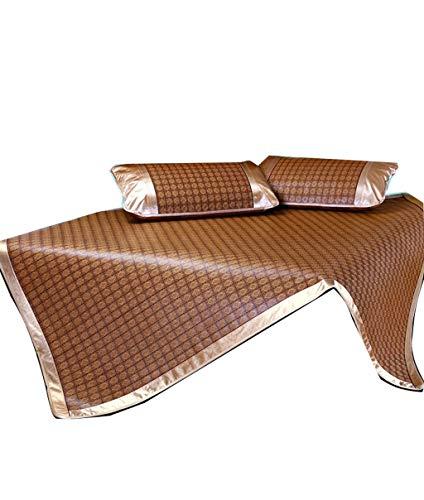 The University Student Rattan Summer Mat Alfombra de gran tamaño Summer Air Conditioning Trajes plegables en el dormitorio Dormitorio del dormitorio Colchoneta para dormir ( Size : 200*215cm )