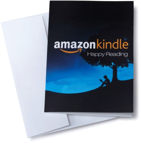 Amazon.com Gift Card for any amount in a Greeting Card (Amazon Kindle Design). Buy it now for 10.00